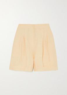 Le Kasha Net Sustain X Lg Electronics Pleated Organic Linen Shorts