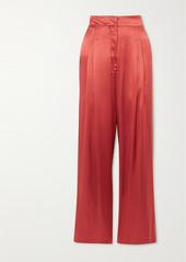 Le Kasha Sansha Silk-satin Wide-leg Pants