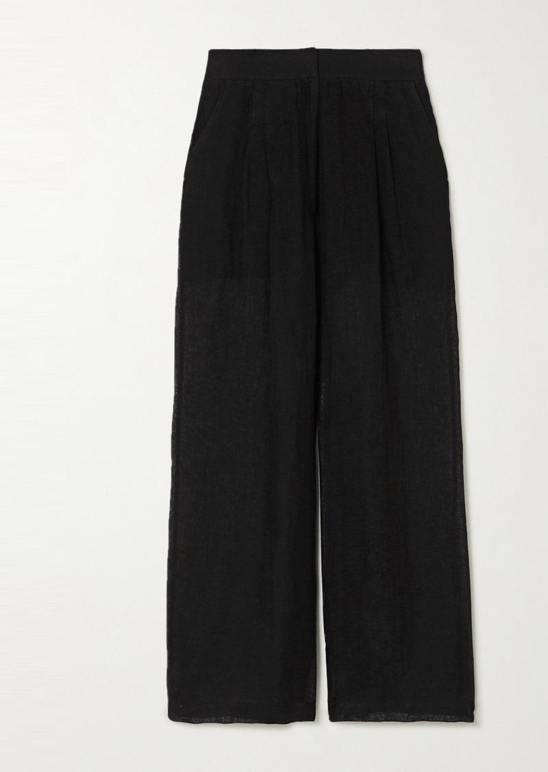 Le Kasha Sohag Linen Wide-leg Pants