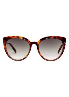 Le Specs 55mm Gradient Cat Eye Sunglasses
