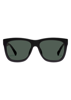 Le Specs High Hopes 58mm Rectangular Sunglasses