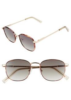 Le Specs Neptune Deux Core 52mm Round Sunglasses