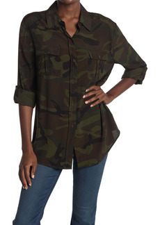 LE SUPERBE Roaming Safari Camo Print Tunic Shirt