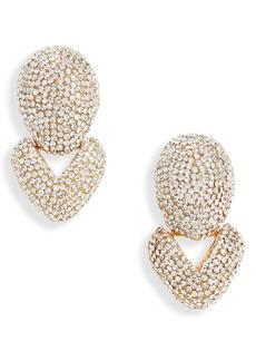 Lele Sadoughi Crystal Hinged Drop Earrings