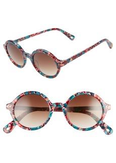Lele Sadoughi East Village 48mm Round Sunglasses