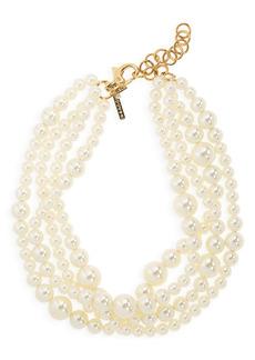 Lele Sadoughi Multilayered Imitation Pearl Necklace