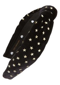 Lele Sadoughi Star Studded Velvet Headband