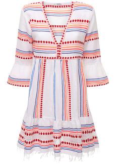 Lemlem Hiwot Flutter Striped Mini Dress
