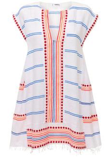 Lemlem Hiwot Striped Mini Caftan Dress