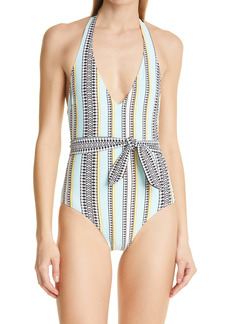 lemlem Neela Belted One-Piece Swimsuit