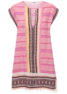 Lemlem Neela Cotton Blend Mini Caftan Dress
