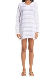 Women's Lemlem Kelali Stripe Hooded Cover-Up Tunic