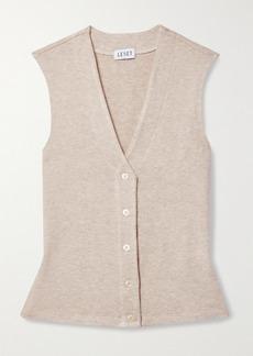 LESET Lori Brushed Stretch-jersey Vest