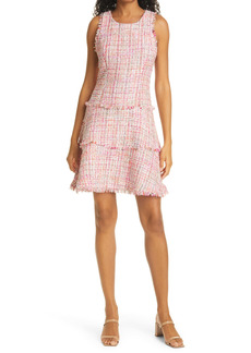 LIKELY Tweed Tiered Minidress
