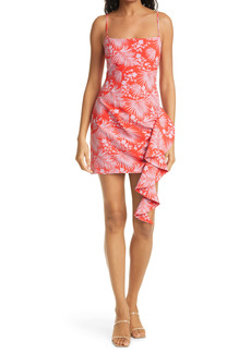 LIKELY Whitney Floral Ruffle Detail Minidress
