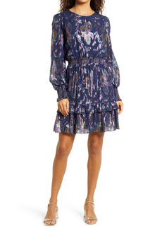 Lilly Pulitzer® Dotti Metallic Floral Long Sleeve Dress