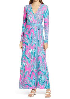 Lilly Pulitzer® Marseilles Long Sleeve Wrap Dress