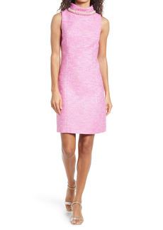 Lilly Pulitzer® Portia Embellished Mock Neck Shift Dress