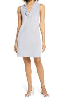Lilly Pulitzer® Tisbury Stripe Ruffle Neck Shift Dress