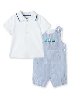 Little Me Shortalls & Polo Shirt Set (Baby)