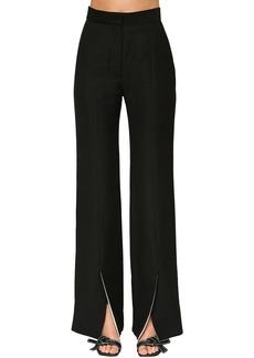 Loewe Frontal Slit Linen Blend Flared Pants