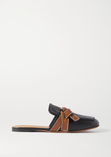 Loewe Gate Topstitched Two-tone Leather Loafers