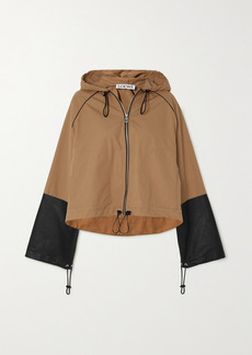 Loewe Hooded Leather-paneled Cotton-canvas Jacket