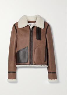 Loewe Leather-trimmed Shearling Jacket