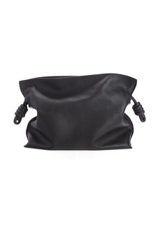 Loewe Flamenco Knot Leather Clutch - Black