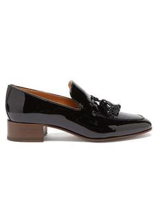 Loewe Pompom tasselled leather loafers