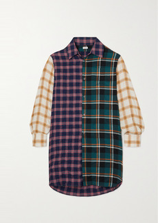 Loewe Patchworked Checked Modal-blend Shirt