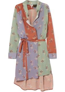 Loewe Paula's Ibiza Belted Printed Crepe De Chine Wrap Dress