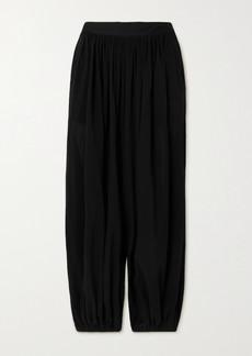 Loewe Paula's Ibiza Draped Cotton-voile Pants