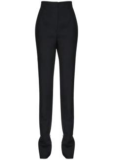 Loewe Wool Blend Gabardine Pants W/ Rings