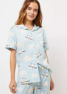 LOFT Cloud Kitty Pajama Top