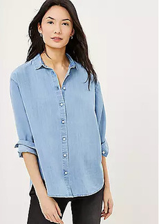 LOFT Chambray Relaxed Shirt
