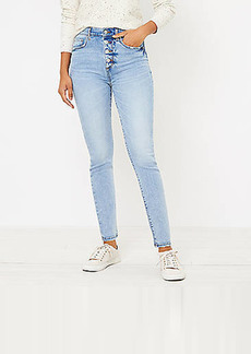 LOFT Curvy High Waist Skinny Jeans in Authentic Light Indigo Wash