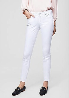 LOFT Curvy Mid Rise Slim Pocket Skinny Jeans in White
