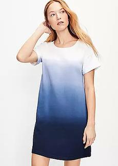 LOFT Dip Dye Tee Dress