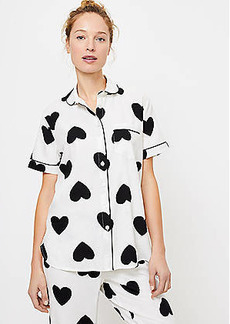 LOFT Heart Pajama Top