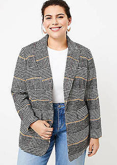 LOFT Plus Plaid Modern Blazer
