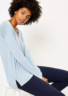 LOFT Long Sleeve Scoop Neck Tee