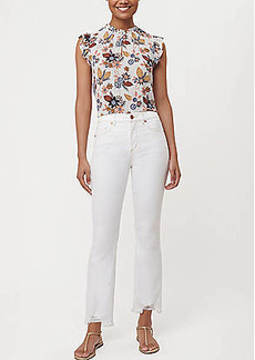 LOFT Petite Flare Crop Jeans in White