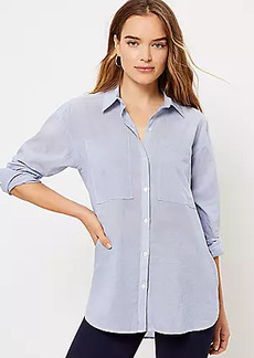 LOFT Pinstriped Tunic Shirt