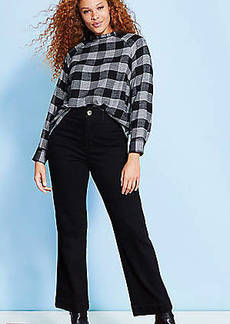 LOFT Slim Wide Leg Jeans in Washed Black Wash
