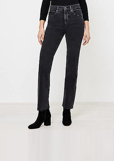 LOFT Straight Leg Jeans in Washed Black Wash