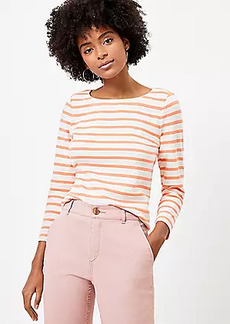 LOFT Striped Boatneck Tee