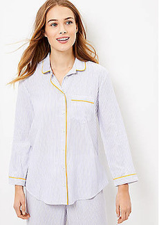 LOFT Striped Pajama Top