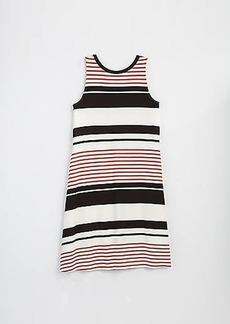 LOFT Striped Tie Back Swing Dress