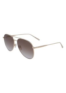 Longchamp Classic 59mm Gradient Aviator Sunglasses